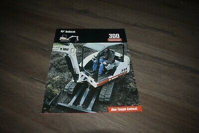 Bobcat 300 conventional tail swing compact excavator brochure