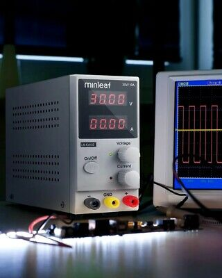 Four-Digit Digital LED Display Adjustable DC Power Supply Switching Regulated