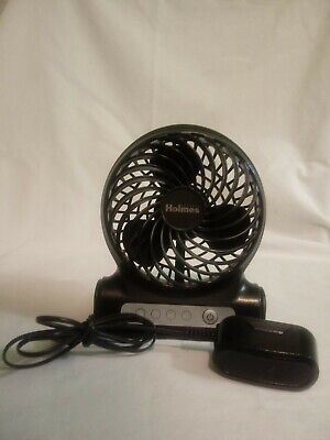 """Holmes HPF0467WU 4/"""" Personal Fan Rechargeable Battery Operated White"""