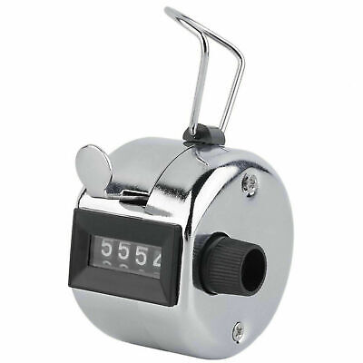 Tally Counter Hand Held Clicker 4 Digit Chrome Palm Golf People Counting Club