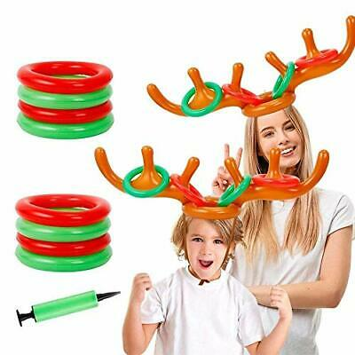 Zueyen 2 Set Christmas Inflatable Reindeer Antler Game, (2 Inflatable Antler,
