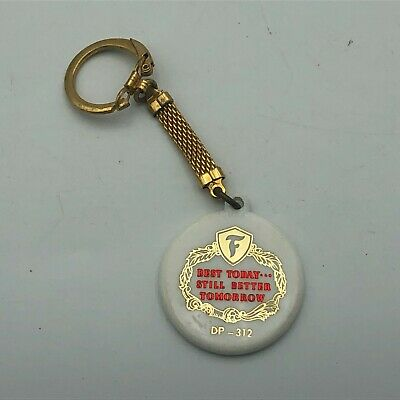Rare Vtg Firestone Advertising FOB Keychain Best Today Still Better Tomorrow R6