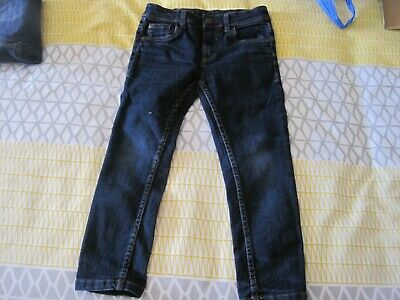boys jeans - 5yrs - NEXT - Skinny - dark blue denim  - height 110cm