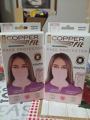 2 New Copper Fit Face Protectors. Youth Girls
