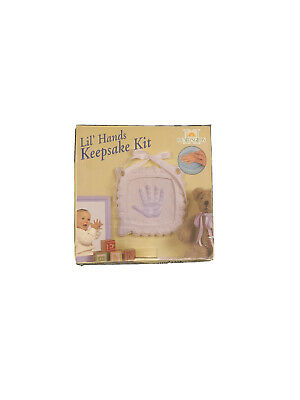 Lil Hands Keepsake Casting Mold Kit Hand Print Footprint Baby Plaque