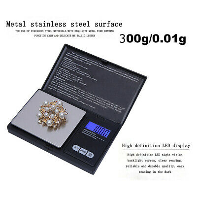 300g/0.01g High Precision Digital Electronic Scale for Jewelry Reloading Kitchen