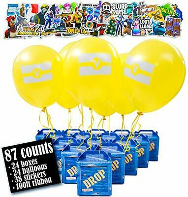 Game Party Military Supply Loot Drop Box Party Favors - 24-Pack. Great as Battle