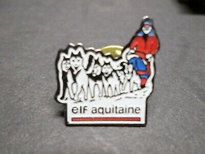 Collection Pins Objects Advertising Images, Elf Aquitaine, Dogs Sleds, Badget