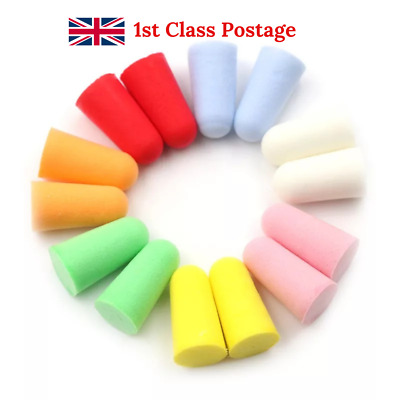Soft Foam Ear Plugs for Sleep, Travel Comfort Noise Reduction Anti Noise - UK