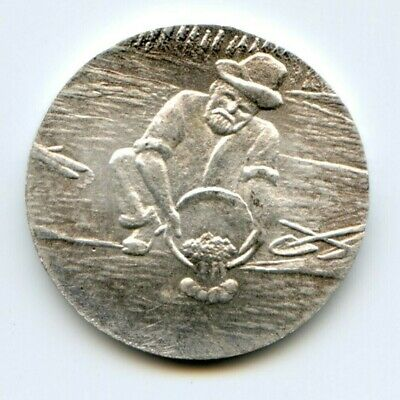 Scarce Gold Miner / Nugget Creek Silver Die Trial / Privately Minted R6