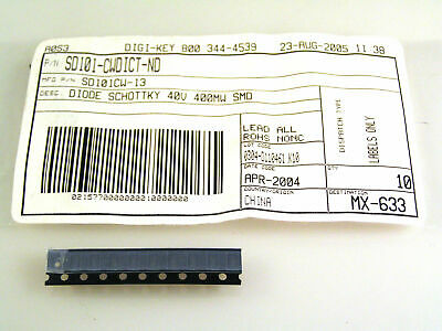 Diodes Incorporated SD101CW-13 40V 15MA SMD SOD123 10 Pezzi OM0182EXX