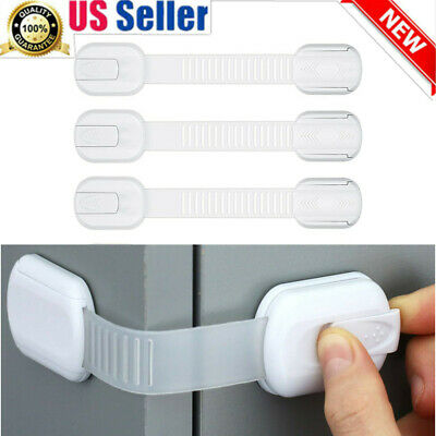 2-10PC Baby Kids Safety Lock Box Drawer Cupboard Cabinet Fridge Door Child Proof
