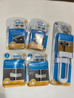 Lot.  Safety 1st--Cabinet Slide Latches And 4 Multi Purpose Latches NEW-SEALED