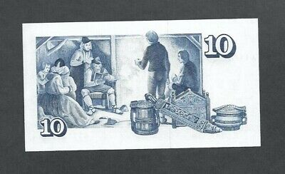 Banknote Iceland 10 Kronur 29 mars 1961 Topical Domestic scene Unc.