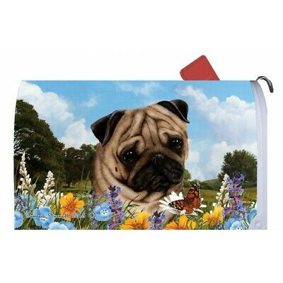 Magnetic Mailbox Wrap (Summer) - Fawn Pug 56022