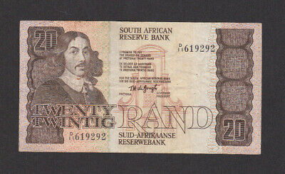 20 Rand Very Fine Banknote From Souith Africa 1982-85 Pick-121