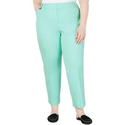Charter Club Womens Newport Green Cropped Pants Trousers Plus 22W  4242