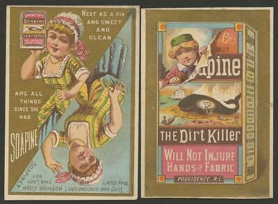 """1900's - 8 """"SOAPINE"""" TRADE CDS - BEACHED WHALE, METAMORPHIC, MONTHS, WASH LINE"""