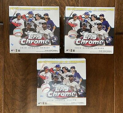 2020 Topps Chrome Update Series Baseball Mega Box - Factory Sealed - Set of 3