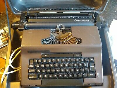 Vintage Sears Communicator I Electric typewriter w/ Case and ink works