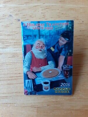 2016 Waffle House Coca Cola Christmas Santa Holiday winter collectible pin