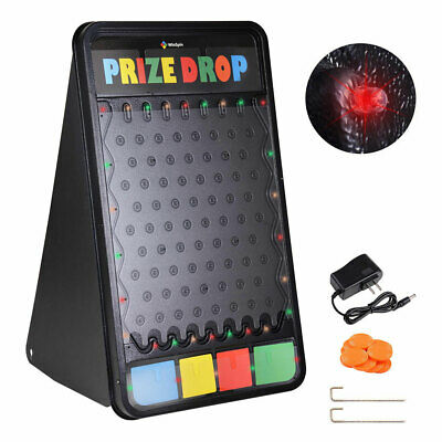 """WinSpin? 41x25"""" Large Prize Drop w/ LED Light 12 Pucks Board Game Carnival Party"""