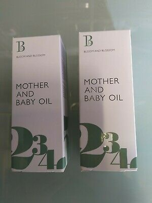 2x Bloom And Blossom Mother And Baby Oil 100ml New & Sealed
