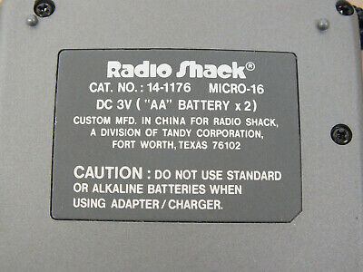 Radio Shack Micro 16 Voice Activated  Cassette Tape Recorder 14-1176- As Is