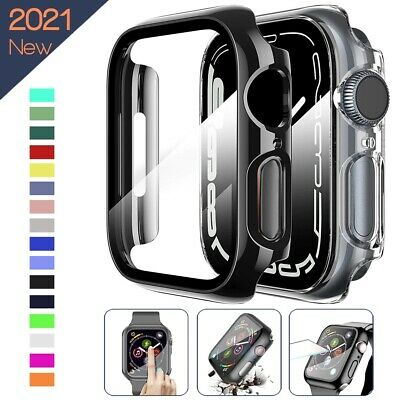 360 full Screen protector Bumper Frame matte hard Case for Apple watch Tempered