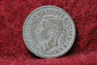 Great Britain,1939 6 Pence, KM852, silver, 0.0455 NR,                        3-6