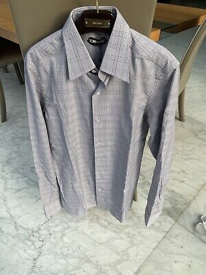 Tom Ford Grey Check Slim Fit Shirt Size 15 / 38. BNWT RRP £450