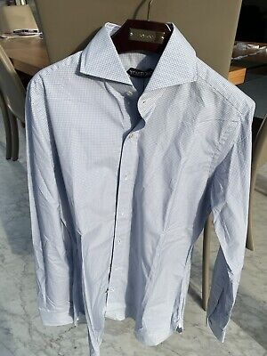 Tom Ford Blue Check Slim Fit Shirt Size 15 / 38. BNWT RRP £495