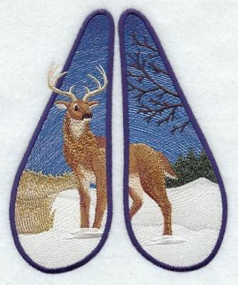 Large Embroidered Zippered Tote - Deer Track A2620