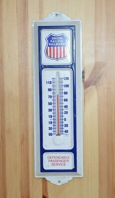 Vintage Advertising Thermometer, Union Pacific Railroad, Metal Wall