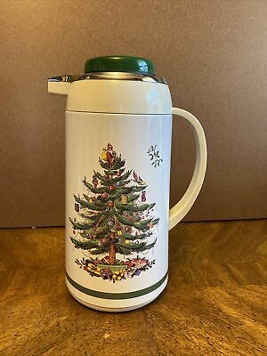 Spode  Christmas Tree Hot / Cold Thermal Carafe Coffee Pot Pitcher.
