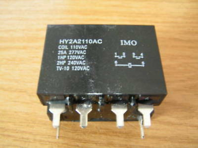 IMO Relay HY2A2110AC 110VAC COIL 25A 277VAC DPDT I86 MBC012d