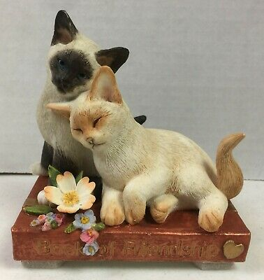 Country Artists Kitten Tales Book of Friendship Cats Figurine 04664 CA EUC #20K