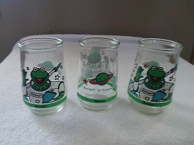 Welch's Kermit The Frog Jelly Jar Glass Muppet