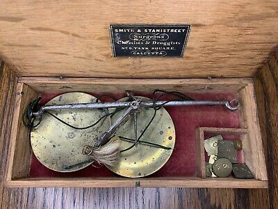 Vintage Gold Miner Scale / California Gold Rush / Handmade Oak / Weights