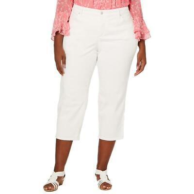 Charter Club Womens Bristol White Natural Waist Cropped Jeans Plus 22W  9684