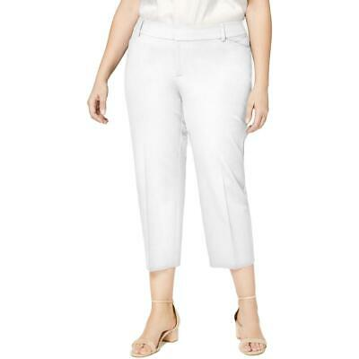 Charter Club Womens Newport White Cropped Pants Trousers Plus 24W  0352