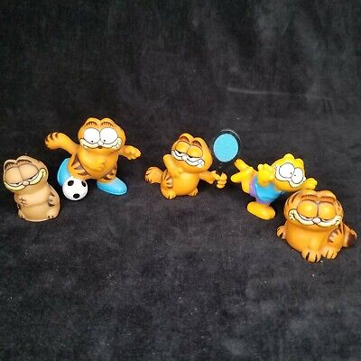 "Vintage Garfield Figure United Feature Syndicate Made In Hong Kong  2"" Lot of 6"