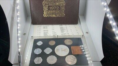 1972 India Bombay Mint Proof Set 9 Coin in Box w COA Rare