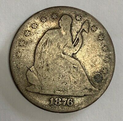 1876 Silver Seated Liberty Half Dollar Fine Condition