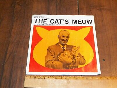 """Vintage MARLIN PERKINS """"THE CAT'S MEOW"""" 33.3RPM Record From NORDEN LABS"""