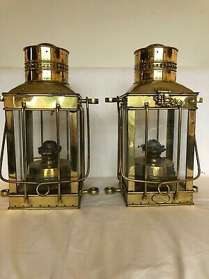 Pair of Antique  1880 brass ship Lanterns by Davey & Co.,London England