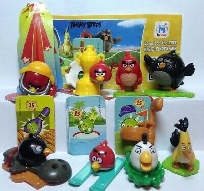 "Kinder Surprise, ""Angry Birds"" series + 7 pieces of paper inserts."