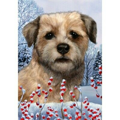 Winter Garden Flag - Border Terrier 151221