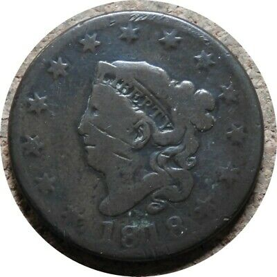 elf Coronet Large Cent 1818   Szego Collection  Obscenity