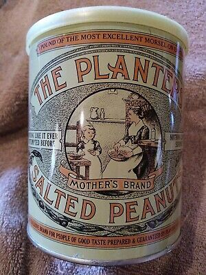 The Planters Salted Peanuts 1 Pound Tin 75th Repoduction can1981